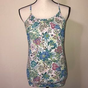 Maurices Sleeveless Floral Top Size Medium